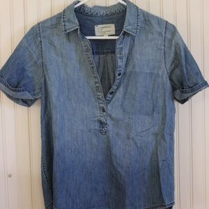 Current/Elliot Chambray Short Sleeve Button Shirt